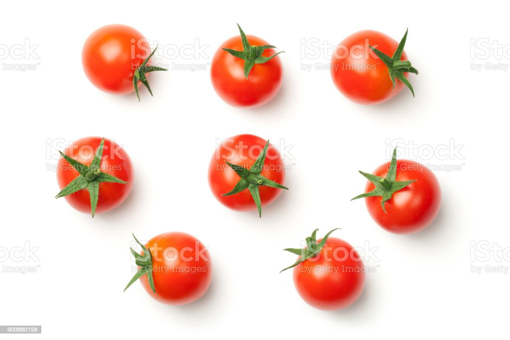 Cherry Tomatoes Isolated on White Background стоковое фото
