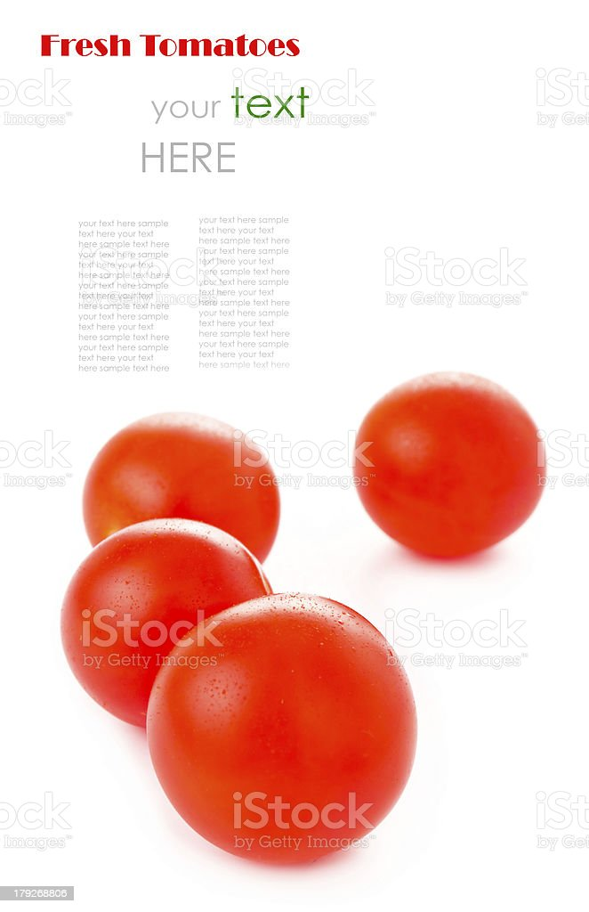 cherry tomatoes isolated on white royalty-free stock photo
