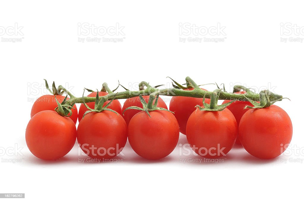 Cherry Tomatoes on a vine royalty-free stock photo