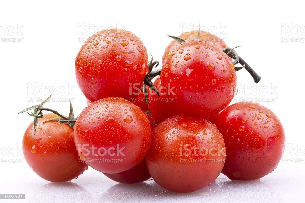 cherry tomatoes on white background royalty-free stock photo