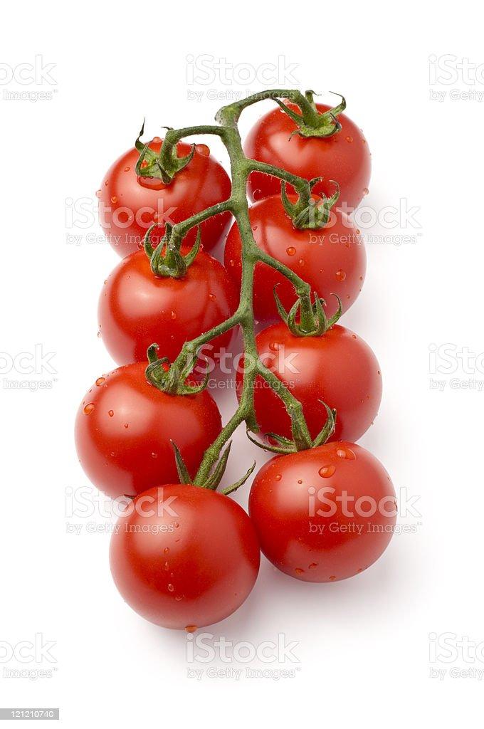 Cherry tomatoes on white royalty-free stock photo