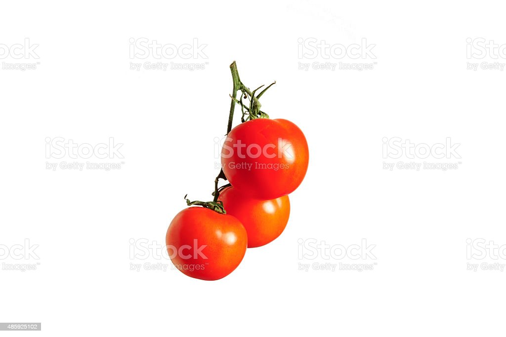 cherry tomatoes with reflection, red tomato, isolated object, white...