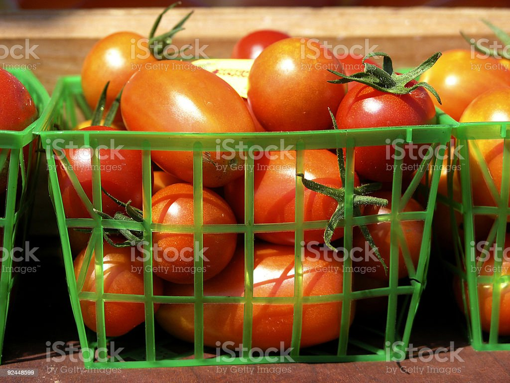 Cherry Tomatos at Farmers Market royalty-free stock photo