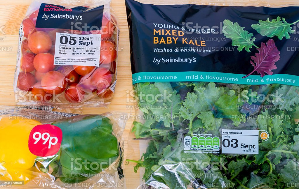 Cherry Tomatos, Baby Kale and Peppers stock photo