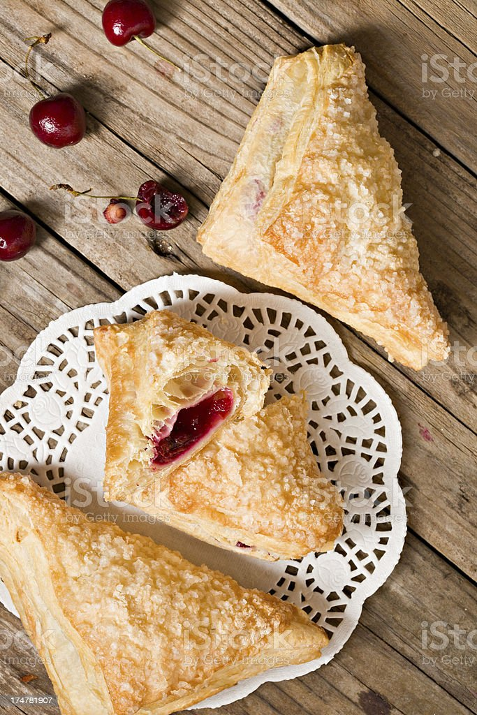 Cherry Turnovers stock photo