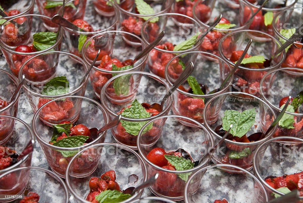 cherry with mint partyfood royalty-free stock photo