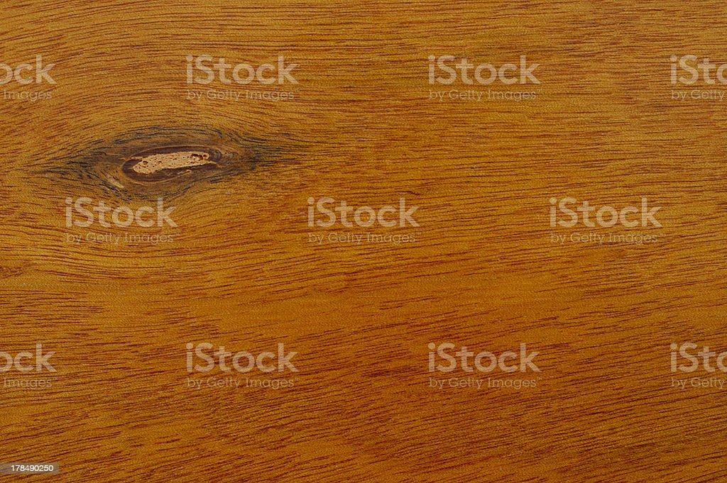 Cherry wood grain with knot hole royalty-free stock photo