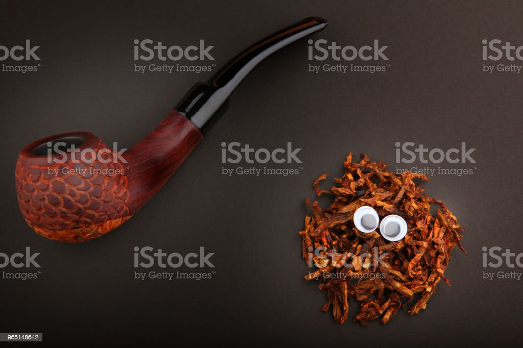 cherry wood smoking pipe royalty-free stock photo