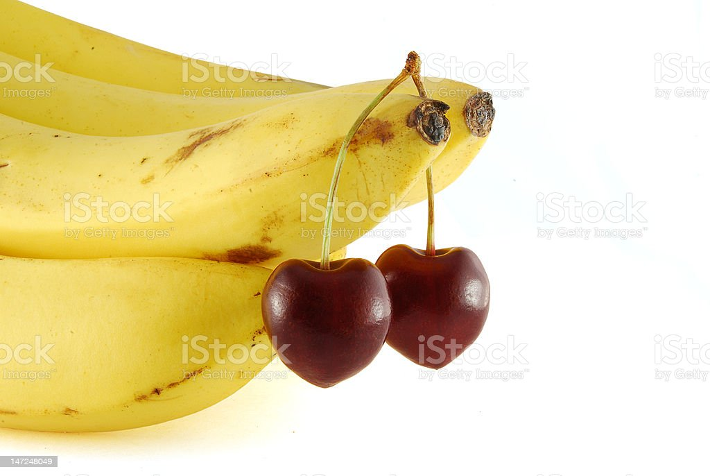 Cherrys branch like a symbol of love royalty-free stock photo