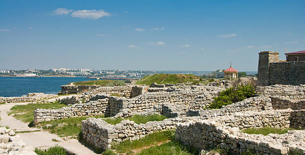 Chersonesus near Sevastopol in Crimea, Ukraine stock photo