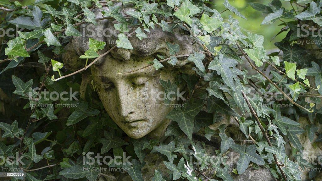 Cherub At Highgate Cemetery, London stock photo