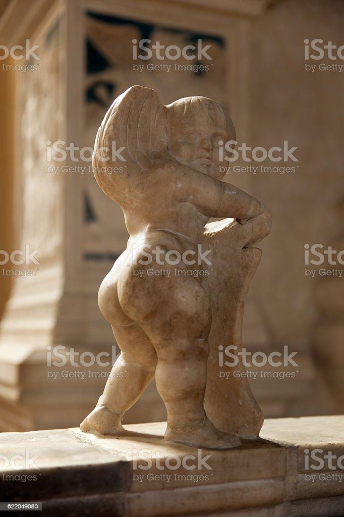 cherub at the Malatesta Temple of Rimini-4 stock photo
