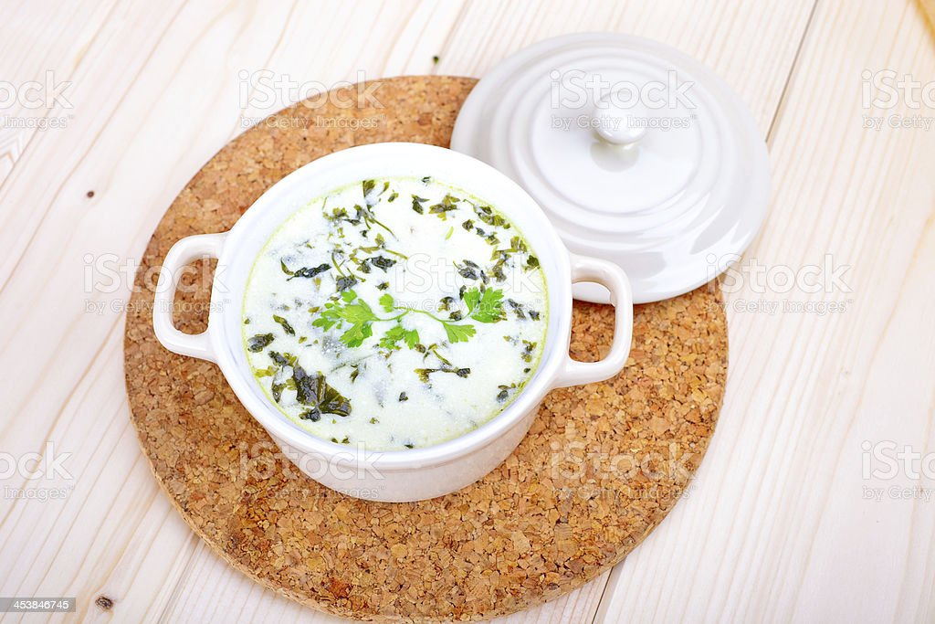 Chervil Soup royalty-free stock photo