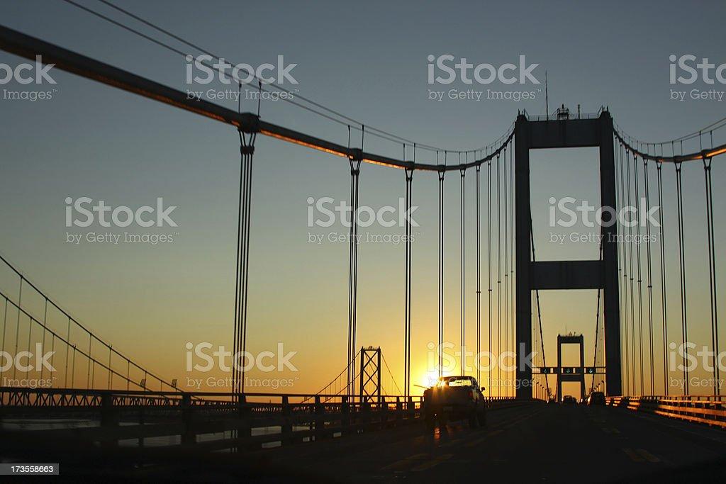 Chesapeake Bay Bridge at dawn (USA) royalty-free stock photo