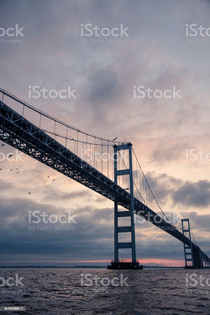 Chesapeake Bay Bridge at Sunrise stock photo