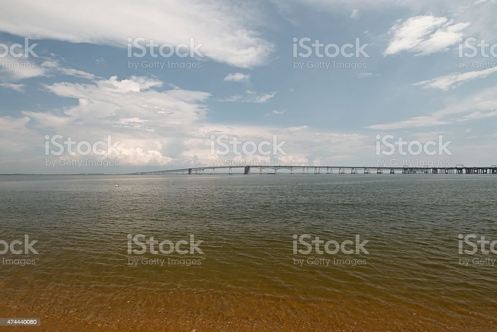 Chesapeake Bay Bridge Before The Storm stock photo