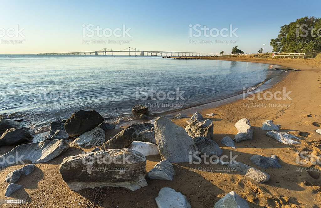 Chesapeake Bay Bridge in Early Morning stock photo