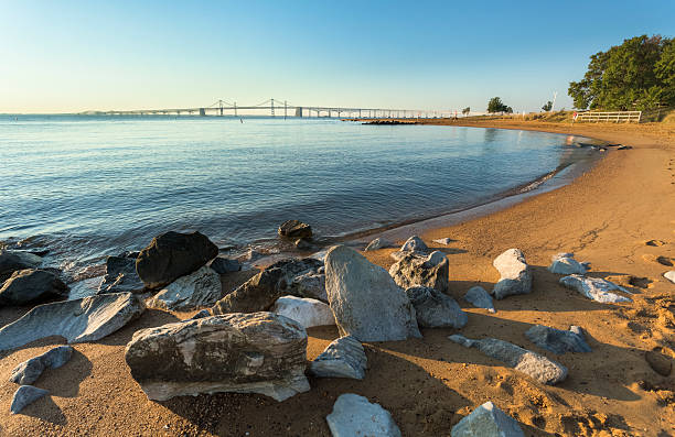 Chesapeake Bay Bridge in Early Morning stock photo