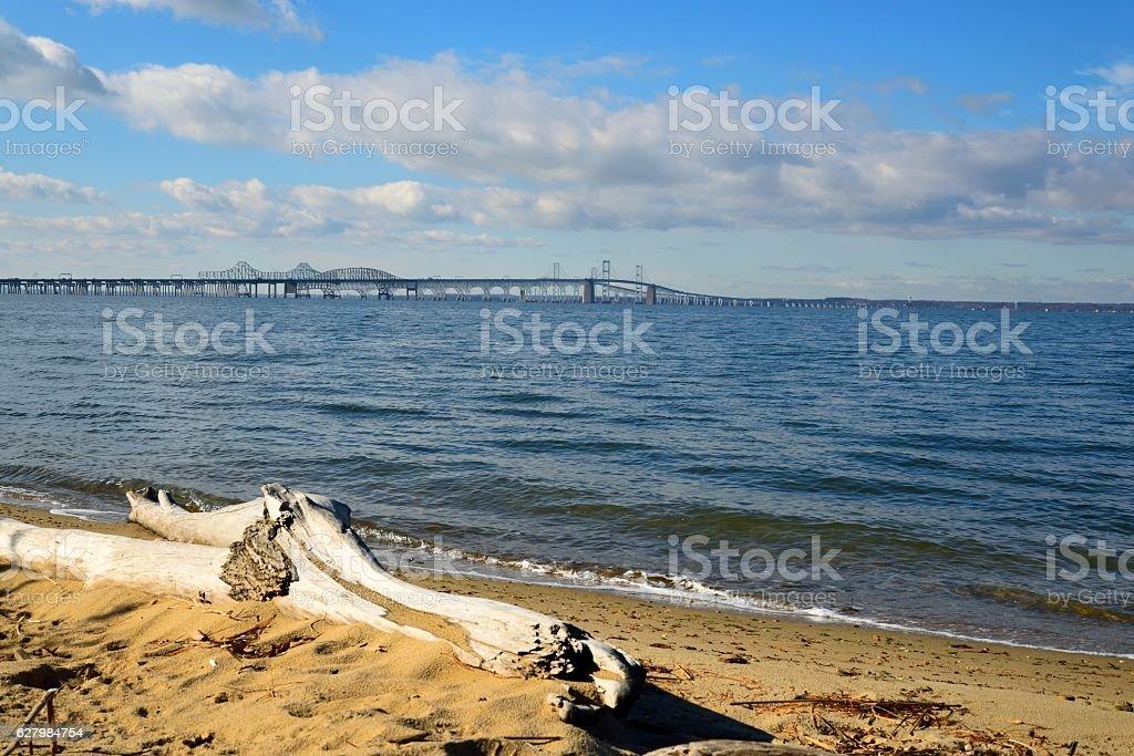 Chesapeake Bay Bridge Landscape stock photo