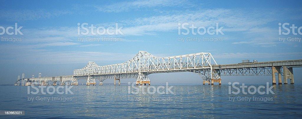 Chesapeake Bay Bridge royalty-free stock photo