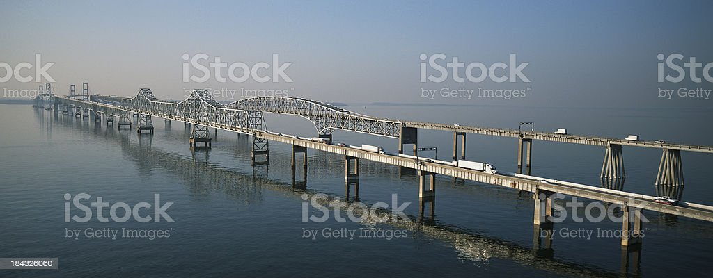 Chesapeake Bay Bridge stock photo