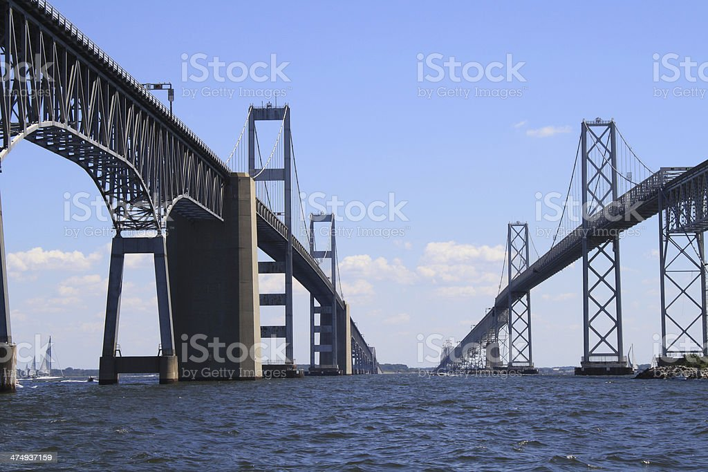 Chesapeake Bay Bridge View from the West stock photo