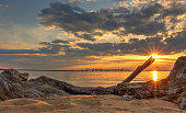 ancient work tool that scrutinizes the horizon facing the sea