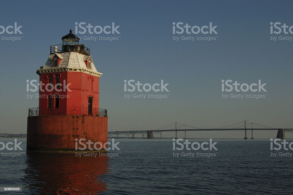 Chesapeake Bay lighthouse stock photo