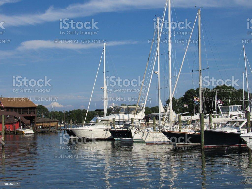 Chesapeake Bay Maritime Museum stock photo