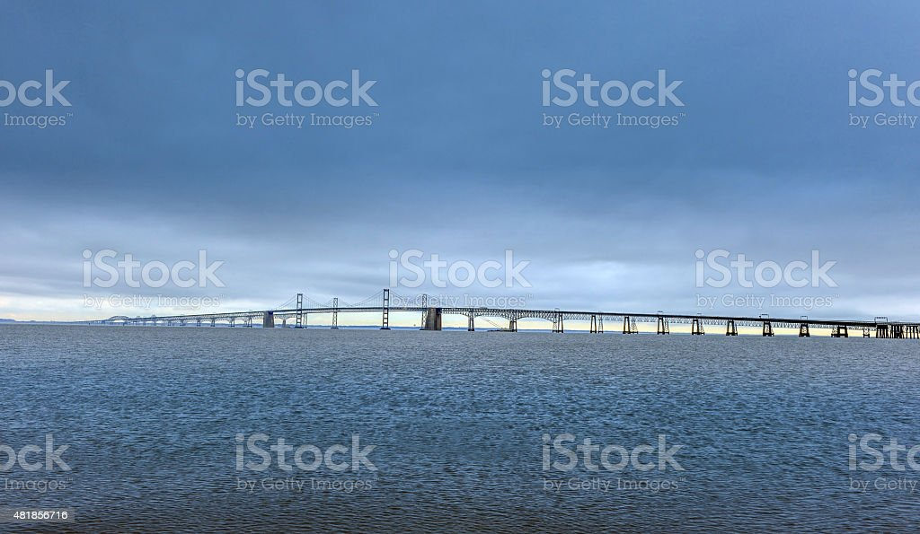 Chesapeake Bay Suspension Bridge stock photo