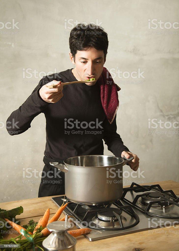 Chesf tasting stock photo