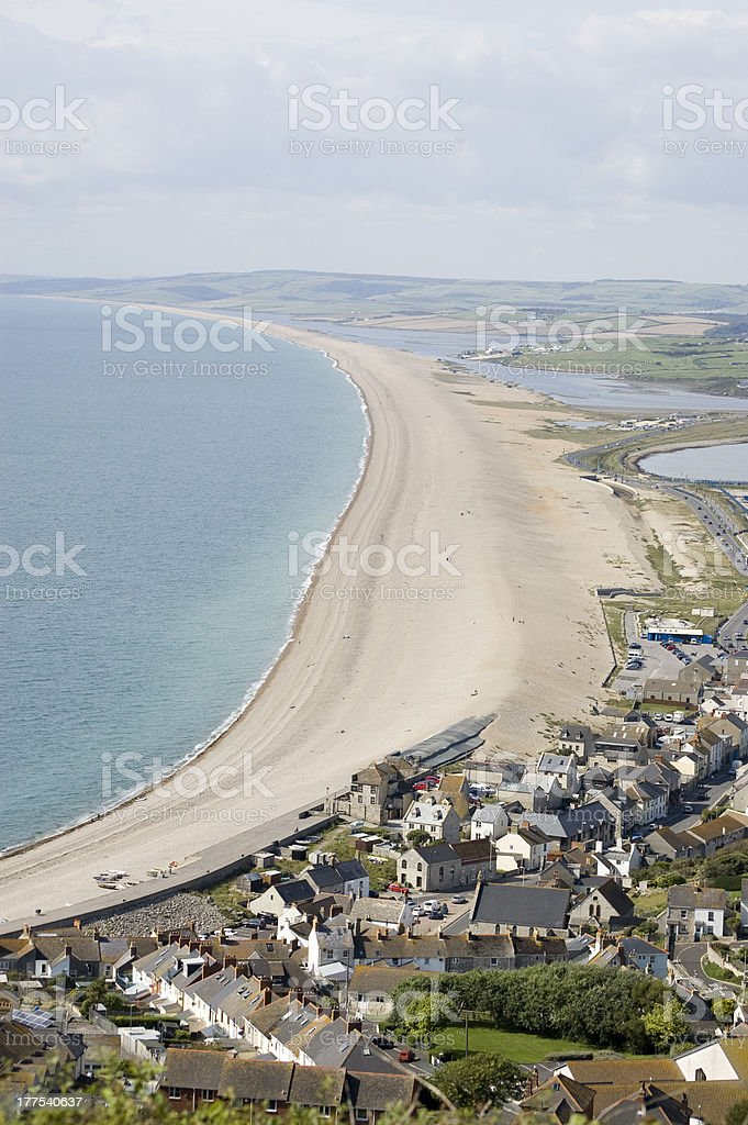 Chesil Beach, Dorset stock photo