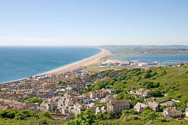 chesil beach - weymouth stock photos and pictures