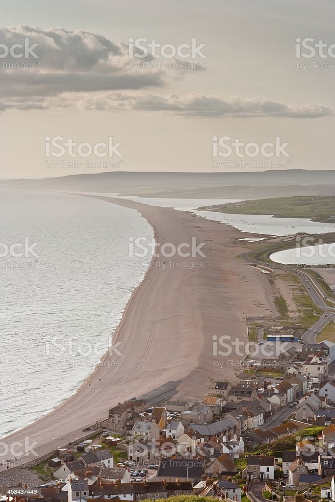 Chesil beach stock photo