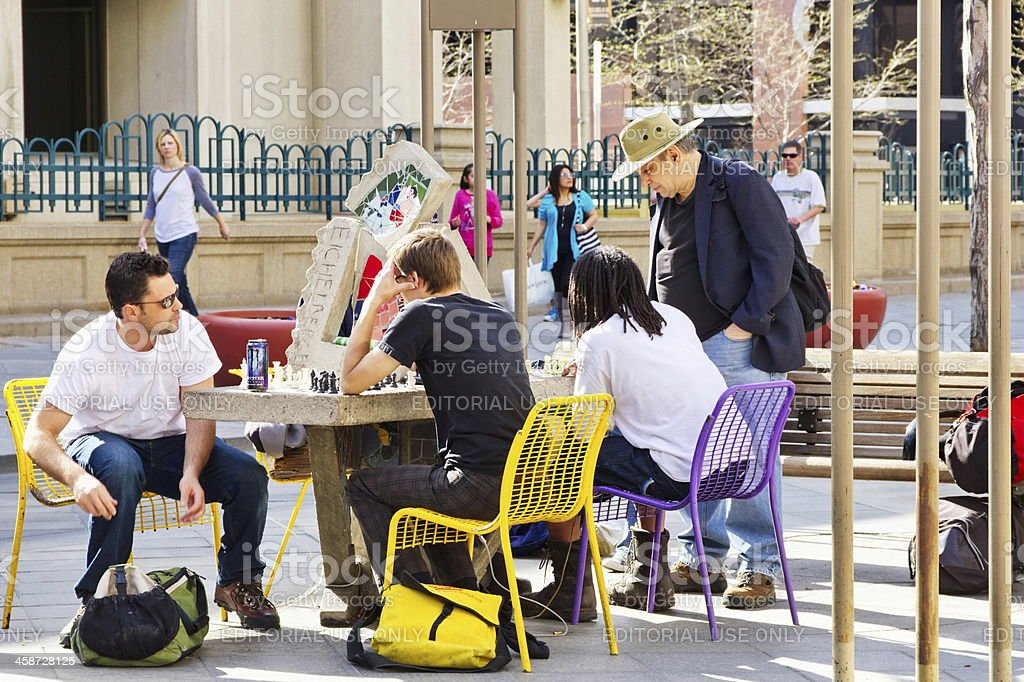 Chess at the 16th Street Mall, Denver, Colorado royalty-free stock photo