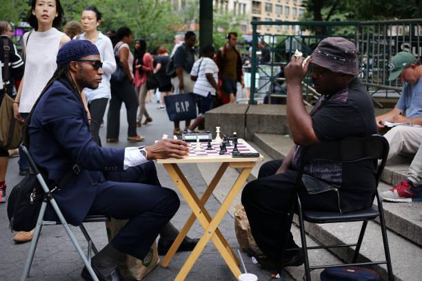 Schach im Union Square Park – Foto