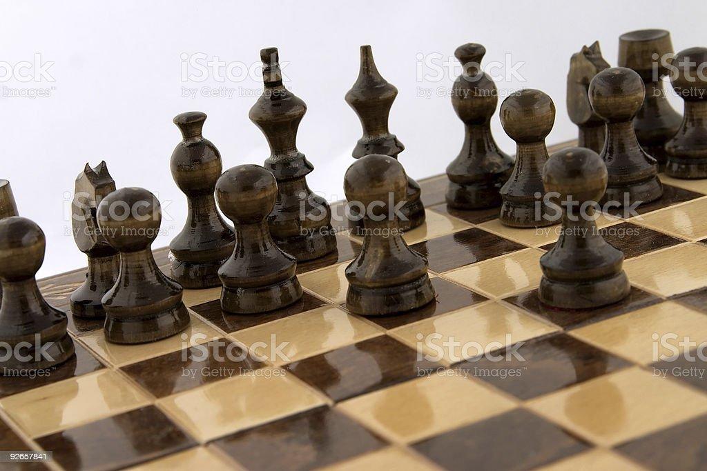 Chess atack royalty-free stock photo
