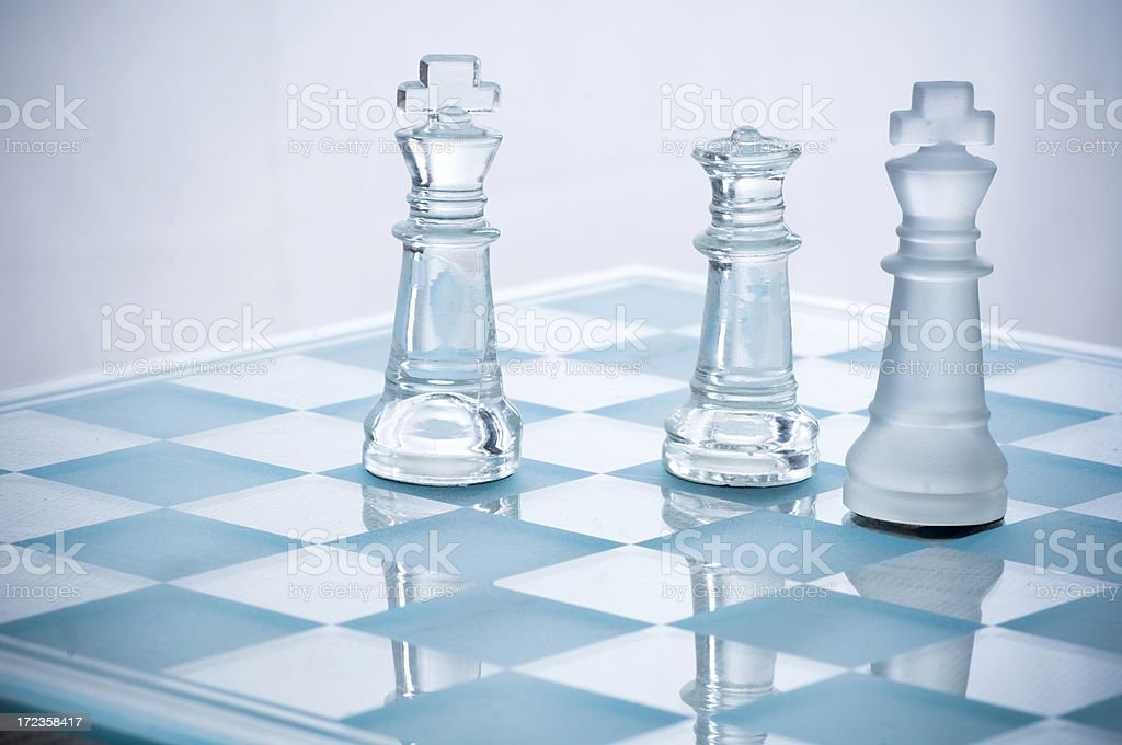 Chess battle royalty-free stock photo