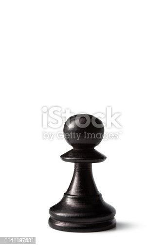Chess: Black Pawn Isolated on White Background