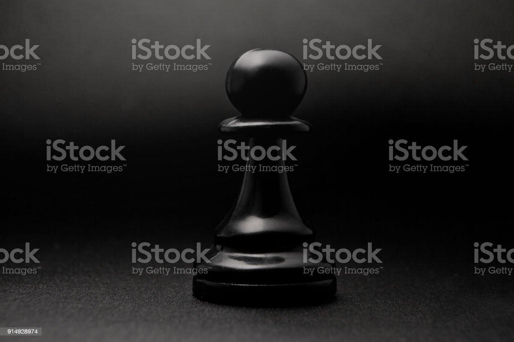 Chess. Black pawn. stock photo