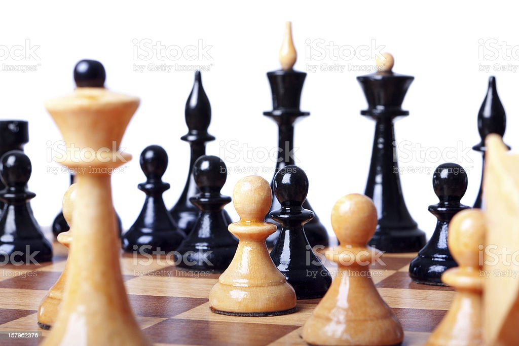 chess board focused closeup royalty-free stock photo