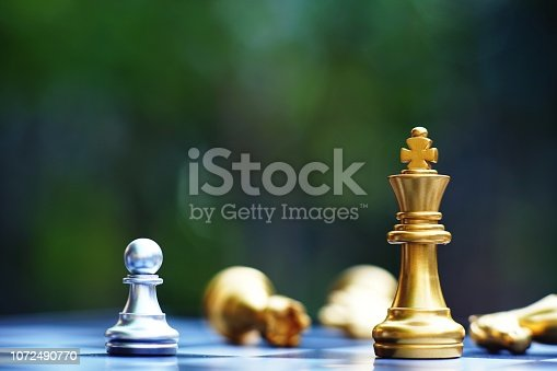 Chess board game, business competitive concept, copy space