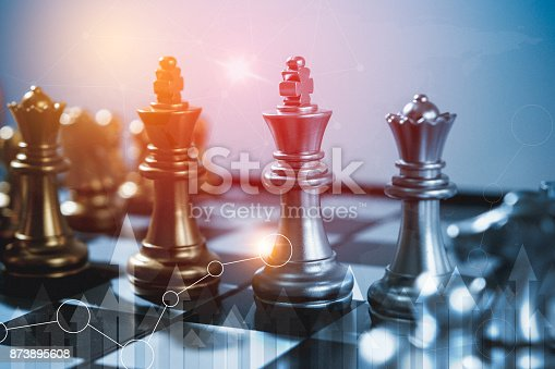 858031152istockphoto Chess board game concept of business ideas and competition and stratagy plan success meaning, Stock financial statistic graph analysis data concept. 873895608