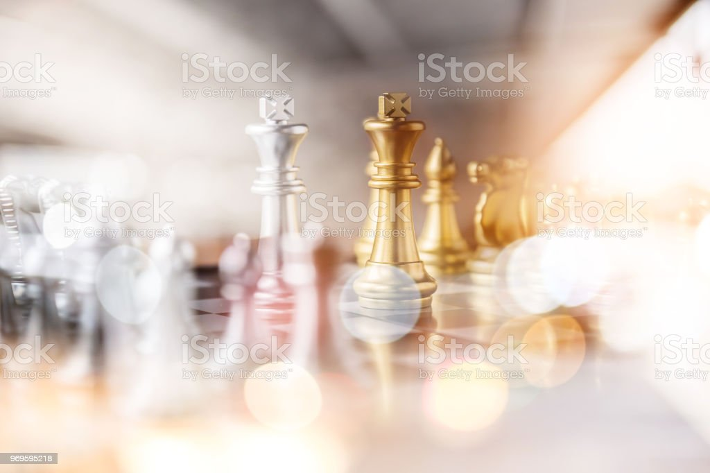 chess board game concept of business ideas and competition and stratagy plan success meaning stock photo