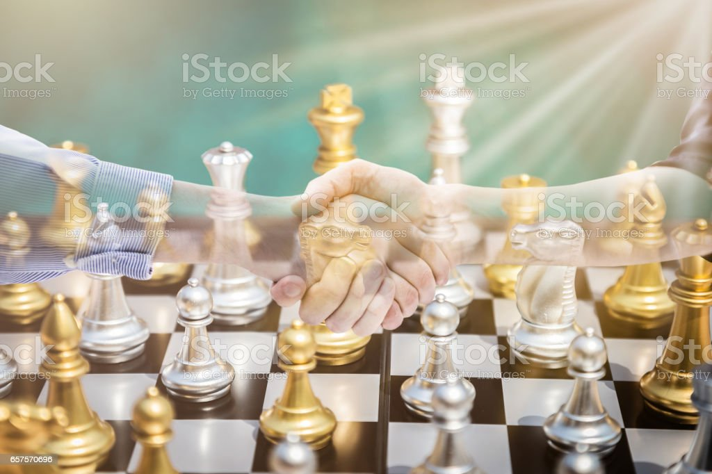chess board game concept of business ideas and competition and...