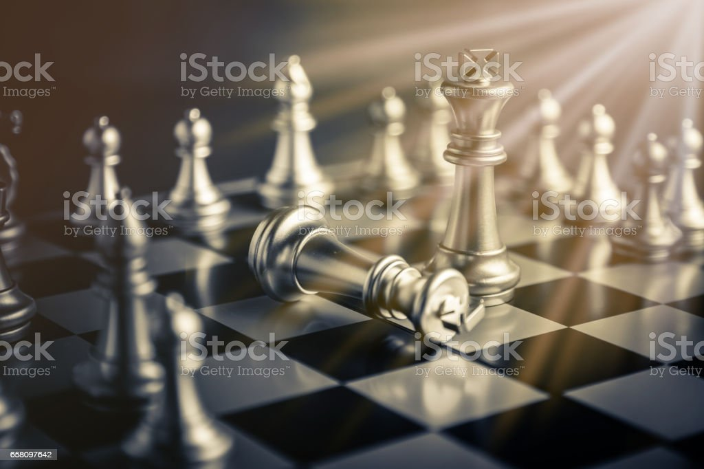 chess board game concept of business ideas and competition royalty-free stock photo
