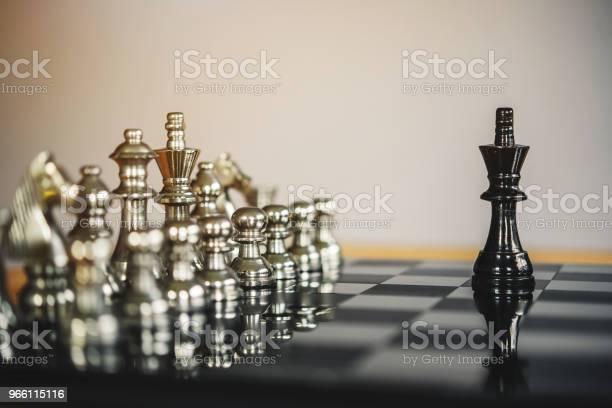 Chess Brädspel För Idéer Och Konkurrens Och Strategi Framgång Affärsidé-foton och fler bilder på Affärsmänniska