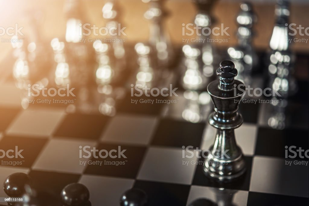 chess board game for ideas and competition and strategy, business success concept - Стоковые фото Бизнес роялти-фри