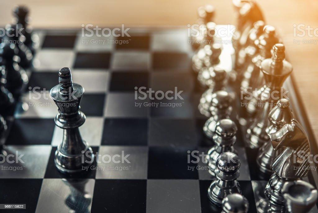 Schaken bordspel voor ideeën, concurrentie en strategie, business succes concept - Royalty-free Achtergrond - Thema Stockfoto
