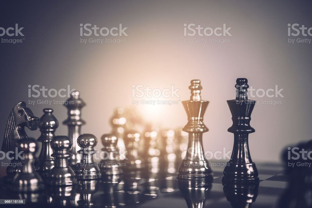 chess board game for ideas and competition and strategy, business success concept - Royalty-free Achievement Stock Photo
